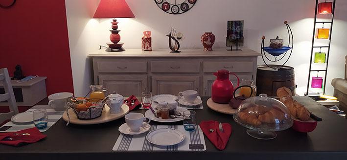 Petit déjeuner Villa Maimona Gîte de France